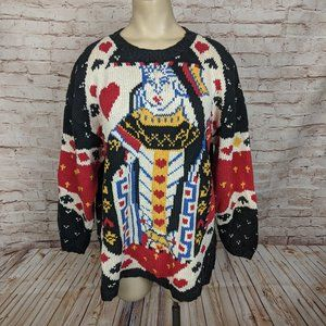 Vintage Glenover Queen of Hearts Sweater